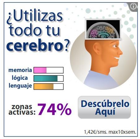 Anuncio: ¿utilizas todo tu cerebro?