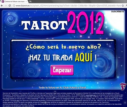 http://www.fytarot.es/es/splash_v32/html/prelanding.bsp?isTest=1&clId=116&chId=3&spId=Qtarot2010_b&deId=ftarot2012&ac_cid=452501&User=324712&zanpid=1590102085440332800 club futuro y tarot 2012 tirada - Conoce tu futuro con nuestro Tarot