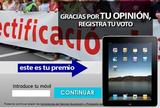 ineme huelga iPad promoción TU SUPER RECARGA