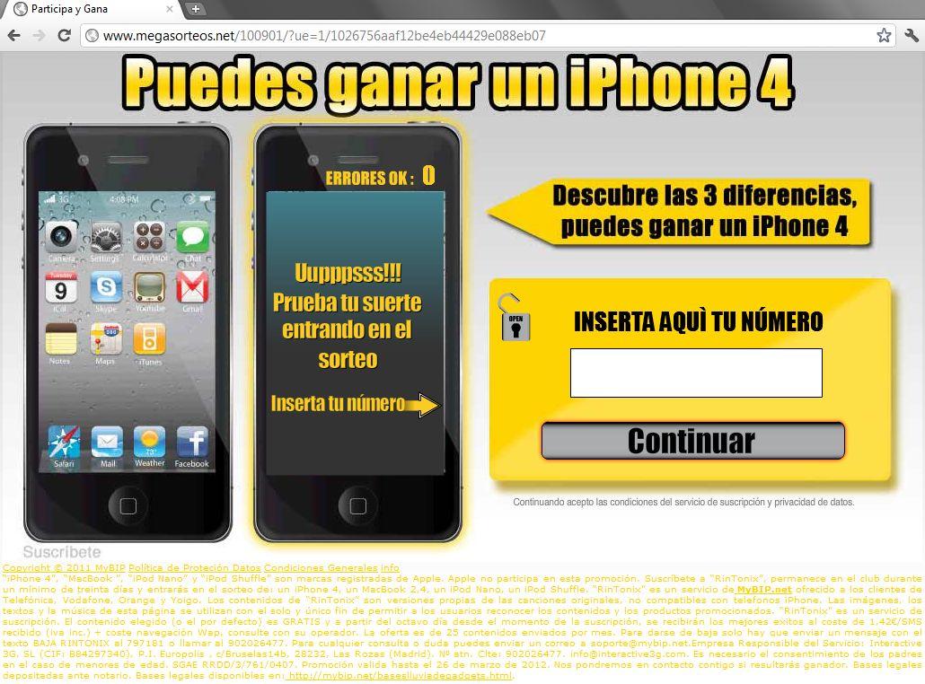 www.megasorteos.net Rintonix participa y gana puedes ganar un iPhone 4