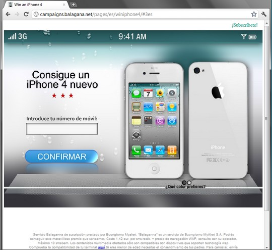win an iphone 4 consigue un iphone4 nuevo http://campaigns.balagana.net/pages/es/winiphone4/#3es