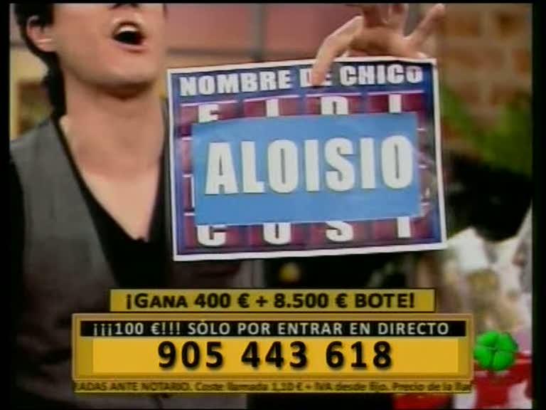 Aloisio, nombre de persona Teletrébol
