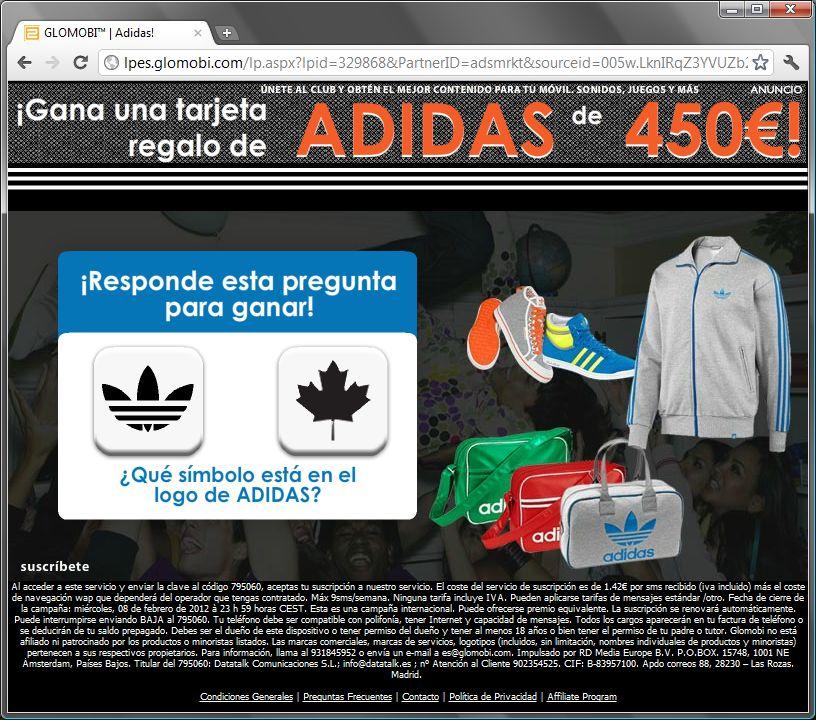 http://lpes.glomobi.com/lp.aspx?lpid=329868&PartnerID=adsmrkt&sourceid=005w.LknIRqZ3YVUZb21nZCKBw000000&sid=9003&ce_cid=005w.LknIRqZ3YVUZb21nZCKBw000000  GLOMOBI™ | Adidas! tarjeta regalo adidas 450€ euros símbolo logo