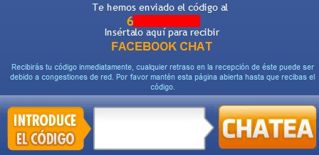 código facebook chat dindo