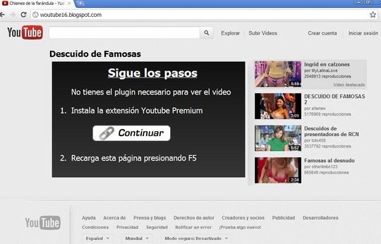 Sigue los pasos -     No tienes el plugin necesario para ver el video  -    Instala la extensión Youtube Premium -     Recarga esta página presionando F5  -- http://voltor.info/video/ http://woutube16.blogspot.com/ --- Descuido de Famosas  - Chismes de la farándula - YuoTube