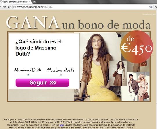 ¡Gana compras valoradas en 450€! gana un bono de moda massimo dutti logo símbolo
