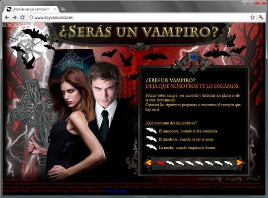 www.soyvampiro2.es ¿Podrías ser un vampiro?