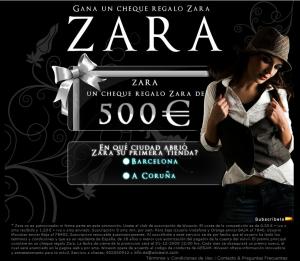 Falso concurso Zara